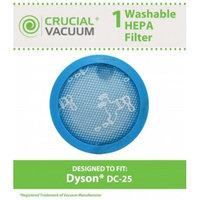 Crucial Vacuum DC-25 Long Life Washable & Reusable Pre-Filter, Fits Dyson Part # 914790-01
