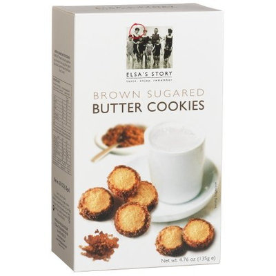 Elsas Story Elsa's Story Brown Sugared Butter Cookies, 4.76-Ounce Boxes (Pack of 8)