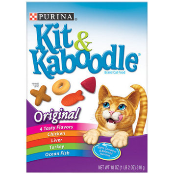 Kit & Kaboodle Dry Cat Food (18-oz, case of 12)