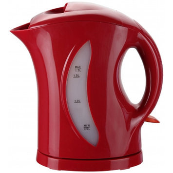 Brentwood [kt-1619] 1.7 Liter Cordless Plastic Tea Kettle In Red - 1200 W - 1.80 Quart - Red (kt1619)