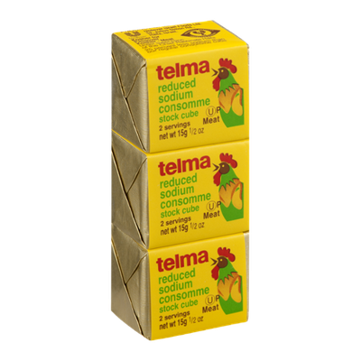 Telma Stock Cube Chicken Consomme Reduced Sodium - 3 CT
