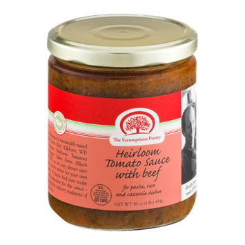 The Scrumptious Pantry Heirloom Tomato Sauce with Beef
