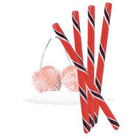 Peppermint Place Sour Cherry Circus Sticks, 50 Sour Cherry Flavored Hard Candy Sticks