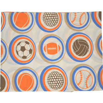 Bacati Mod Sports Printed Fitted Crib Sheet
