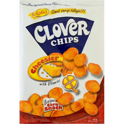 Chunky Leslie's Clover Chips Cheesier Unique Corn Snack, 5.12 oz