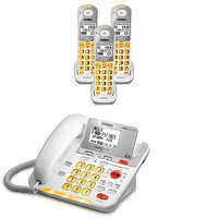 Uniden D3098-3 DECT 6.0 Amplified Corded/Cordless Phone w/ 2 Extra Han