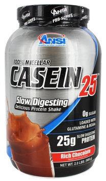 ANSI Advanced Nutrient Science - 100 Micellar Casein 25 Protein Powder Rich Chocolate - 2 lbs.