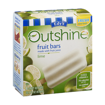 Edy's Outshine Fruit Bars Lime - 6 CT