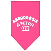 Mirage Pet Products 6602 SMBPK Aberdoggie UK Screen Print Bandana Bright Pink Small