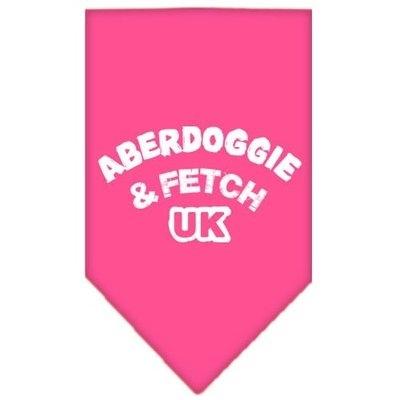 Mirage Pet Products 6602 SMBPK Aberdoggie UK Screen Print Bandana Bright Pink Small