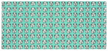 O.r.e. Originals ORE Pet Blue Dog Face Pet Mat