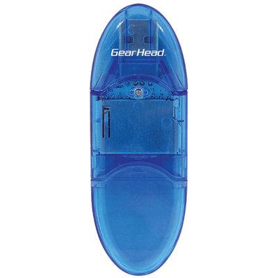 Gear Head SD/SDHC Card Reader, Blue