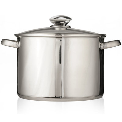 Ecolution Pure Intentions Stainless Steel 12 qt. Stock Pot with Lid ESTL-4512