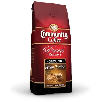 Community Coffee Private Reserve Ground Coffee, Pecan Praline, 12-Ounce Bags (Pack of 3)