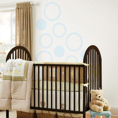WallPops - Concentric Dots 4-Piece Set, Baby Blue