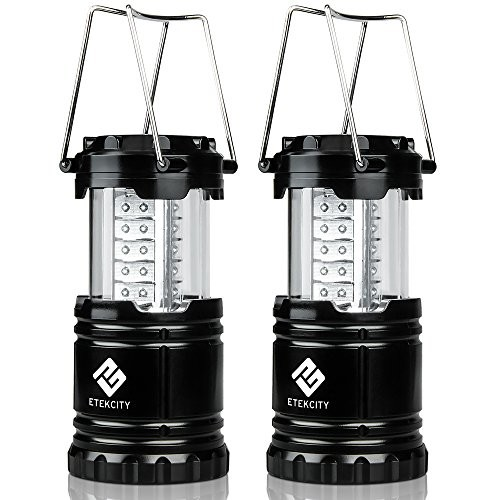 Etekcity 2 Pack Portable Outdoor LED Camping Lantern Flashlight with 6 AA Batteries