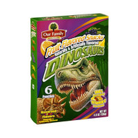 Our Family Snacks Dinosaurs Assorted Fruit Flavors - 6 CT