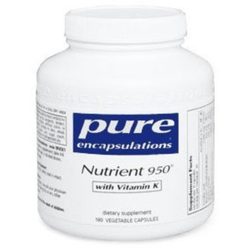 Pure Encapsulations Nutrient 950 with Vitamin K - 180 capsules