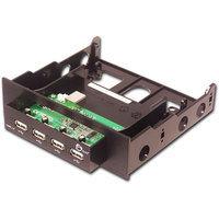 SIIG Hi-Speed USB 4-Port Bay Hub, Black