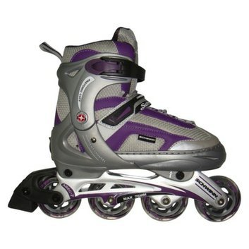 Schwinn Women's Adult  In line Skate Purple Gray Size 8-9