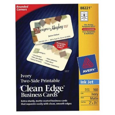 Avery Rounded Inkjet Two-Sided Clean Edge Business Cards