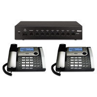 Rca 25800 8-Line Phone System Starter Pack Router 2 Phones