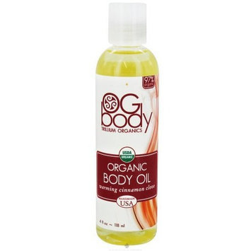 Trillium Organics Cinnamon Clove Warming Ogbody Body Oil 4 oz