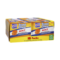 Lance Fresh Toast Chee Minis with Real Peanut Butter Bite Size Sandwich Crackers - 10 PK