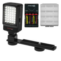 Precision Design Digital Camera / Camcorder LED Video Light with Bracket with Batteries & Charger