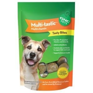 GNC Pets Multi-tastic Multivitamin Tasty Bites Treats for Dogs