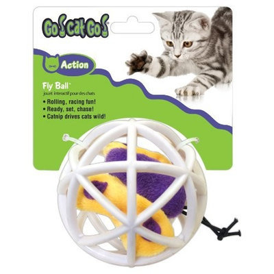 Go! Cat Go OurPets Butterfly in Cage Fly Ball Interactive Cat Toy