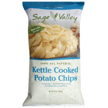 Sage Valley Kettle Cooked Potato Chips, 9 oz, (Pack of 12)