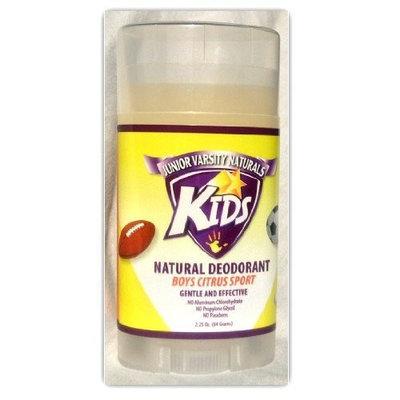 Kids Natural Deodorant for Boys - Citrus Sport - by Junior Varsity Naturals 2.25 Oz