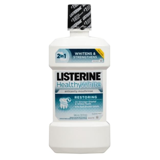 LISTERINE Whitening Plus Restoring Fluoride Rinse