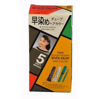 PAON Seven-Eight Hair Color #5 Matt Brown - Tube 1 Color Cream 1.4 Oz - Tube 2 Oxidation Cream 1.4 Oz with Comb and Brush Box