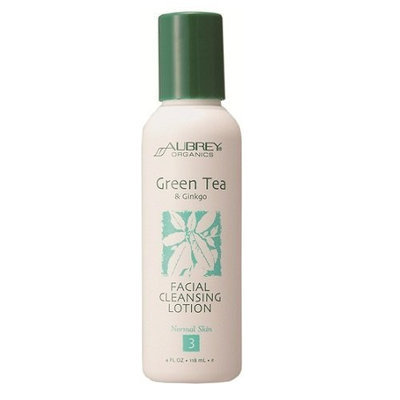 Aubrey Organics - Green Tea & Ginkgo Facial Cleansing Lotion, 4 fl oz lotion