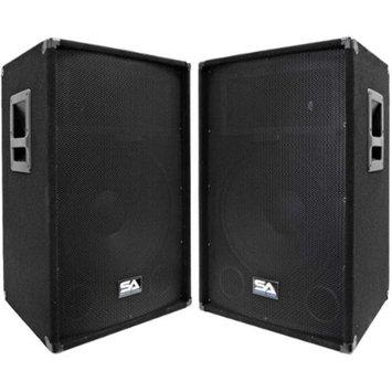 Seismic Audio Pair of Powered 2-Way 15