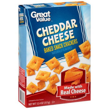 Wal-mart Stores, Inc. Great Value Cheddar Cheese Baked Snack Crackers, 12.4 oz