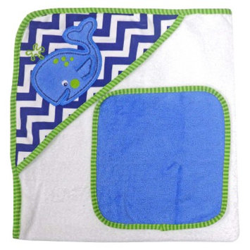 Neat Solutions Whale Hooded Towel and Washcloth Set