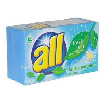 All Fabric Softener Sheets, Fresh Rain - 120ct