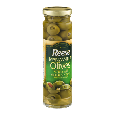 Reese Manzanilla Olives Stuffed with Minced Anchovy