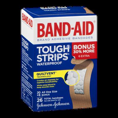 Band-Aid Adhesive Bandages Tough Strips Waterproof - 26 CT