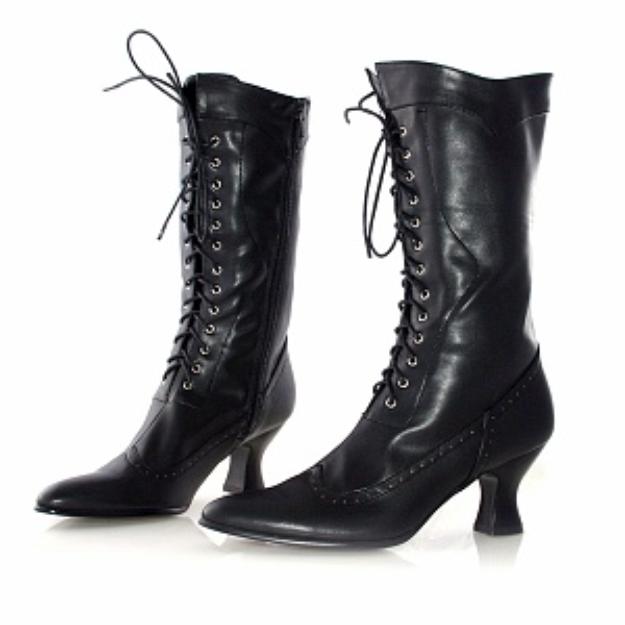 Ellie Shoes Women's Amelia Boot - Color: Black PU, Size: 7