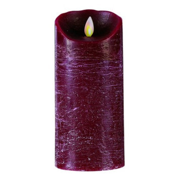 Mystique Burgundy Distressed 7-Inch Candle, 1 ea