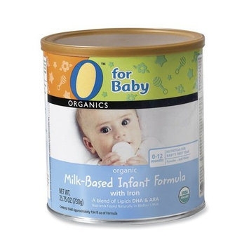 O Organics for Baby Organic Milk-Based Infant Formula with Iron, 25.75-Ounce Canister