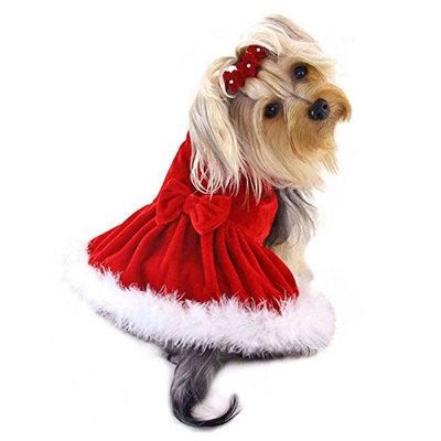 Klippo Pet, Inc Elegant Christmas Furry Dress