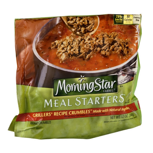 Morning Star Farms Meal Starters Grillers Recipe Crumbles Veggie Crumbles