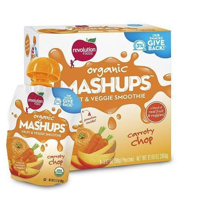 Nest Collective Revolution Foods Squeezable Fruit & Veggie Carroty Chop Mashups 3.17oz - 4 Pack