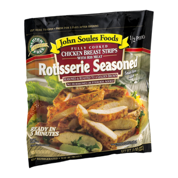 John Soules Foods Chicken Breast Strips Rotisserie Seasoned