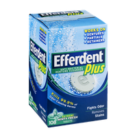 Efferdent Anti-Bacterial Denture Cleanser Plus Minty Fresh- 108 CT